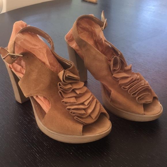 Sundance Shoes - Sundance Sandals - brown suede heels